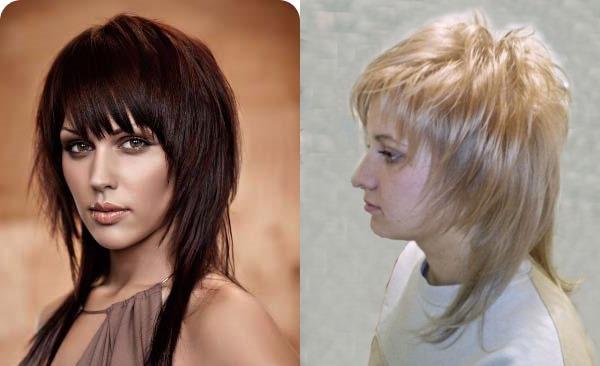 Стрижка каскад на короткие волосы, женская без челки. Новинки 2019, фото, вид сзади и спереди
