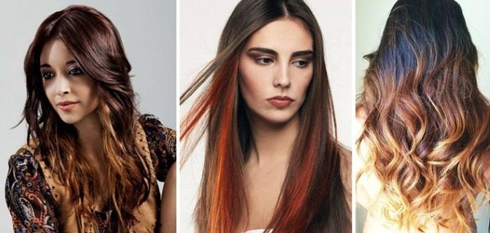 Омбре на черные волосы. Фото пепельное, красное, фиолетовое, серое, двухцветное. Как сделать окрашивание в домашних условиях