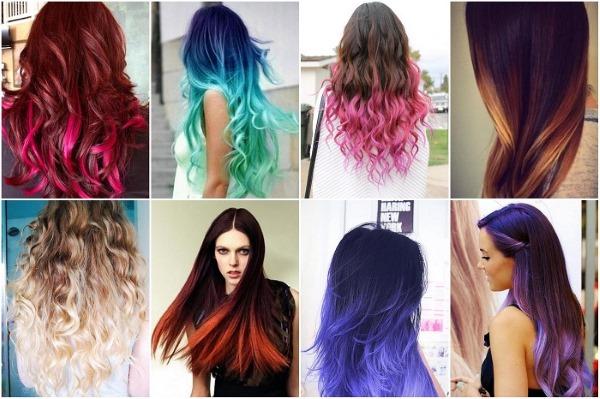 Покраска волос в два цвет: темный верх светлый низ, светлый верх темный низ. Инструкция и фото