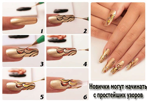 Идеи рисунков на ногтях гель лаком: френч, легкие, иголкой. Фото, пошаговая инструкция выполнения