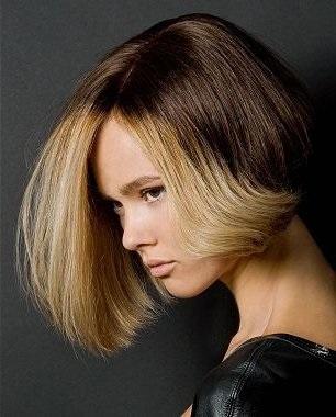 Шатуш на короткие волосы, каре с удлинением, темное окрашивание на русые волосы. Как сделать мелирование
