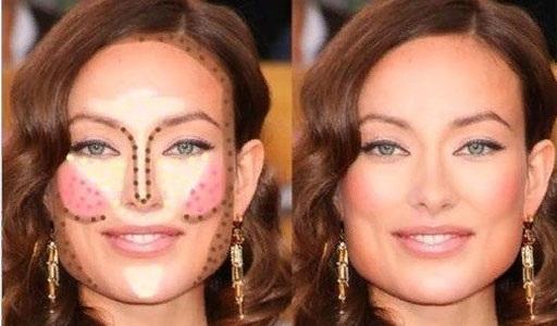 Скульптурирование лица пошагово сухими корректорами, тенями. Как правильно сделать макияж, схема, фото и видео инструкции