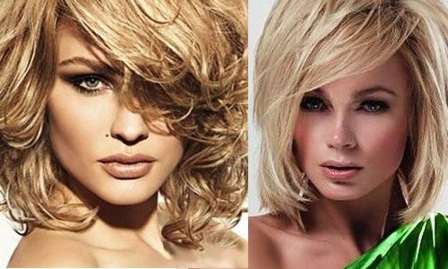 Стрижки на вьющиеся волосы средней длины. Красивые, модные и быстрые, не требующие укладки. Фото, вид спереди и сзади