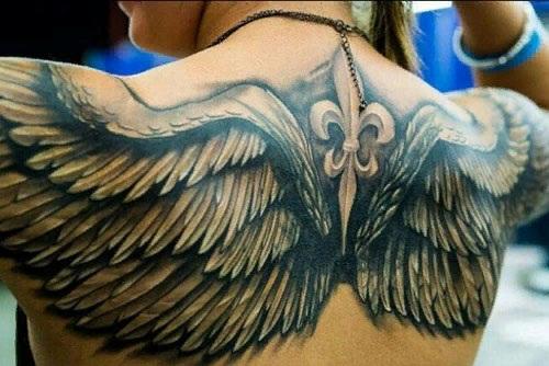 Татуировки на спине - женские, мужские, красивые на пояснице у девушек, лопатке, позвоночнике, на всю спину