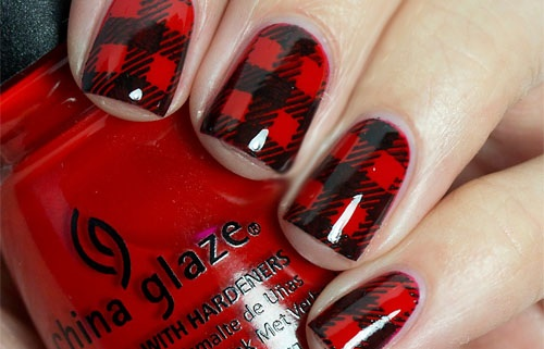 Черно-красный маникюр. Фото, техника, идеи дизайна на короткие, длинные ногти, со стразами, блестками, втиркой, золотом