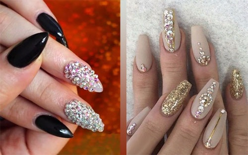 Красивый дизайн ногтей. Фото новинки со стразами, френч с золотом, свадебный маникюр. Модные тенденции