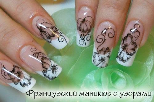 Маникюр в нежных тонах на короткие и длинные ногти. Дизайн со стразами, блестками, френч, шеллак