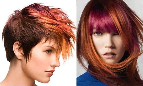 Мелирование на рыжие волосы. Фото калифорнийское, частое, черное, темная, светлая покраска. Как выглядит, как сделать