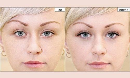 Нарощенные ресницы 2D эффект. Фото до и после: лисий, натуральный, кукольный, классика. Как ухаживать. Цена
