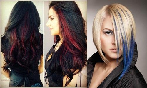Покраска в два цвета на средние, короткие, длинные волосы. Фото темный верх светлый низ, светлый верх темный низ. Инструкция