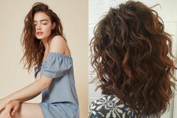 Прически на кудрявые волосы средней длины до плеч с фото: легкие на каждый день, с челкой, для полных