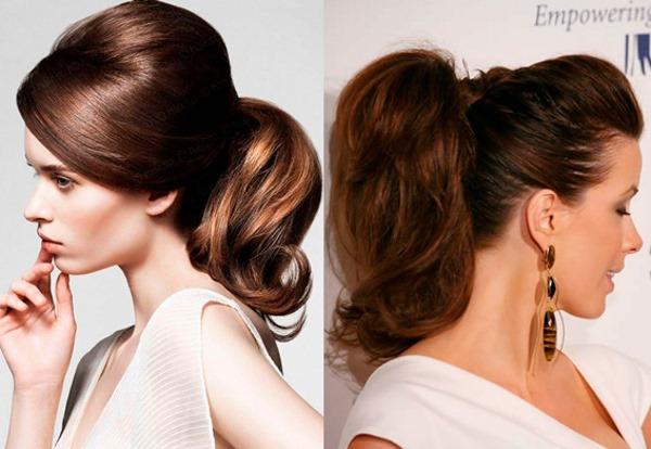 Высокие прически на средние волосы. Фото, пучок, хвост, вечерние, свадебные, простые и элегантные с челкой, локонами, пышные