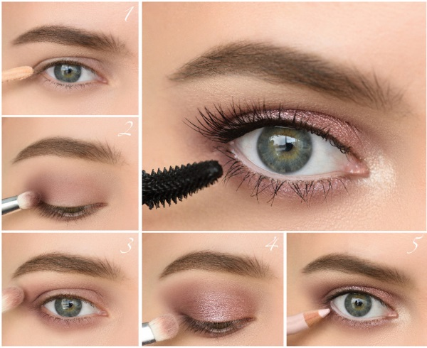 Макияж глаз для увеличения глаз сценический, возрастной, с нависшим веком, стрелки. Пошагово, фото