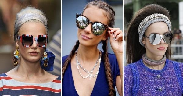 Подбор очков по форме лица женщине для зрения, солнцезащитные. Правила. Модные новинки 2019