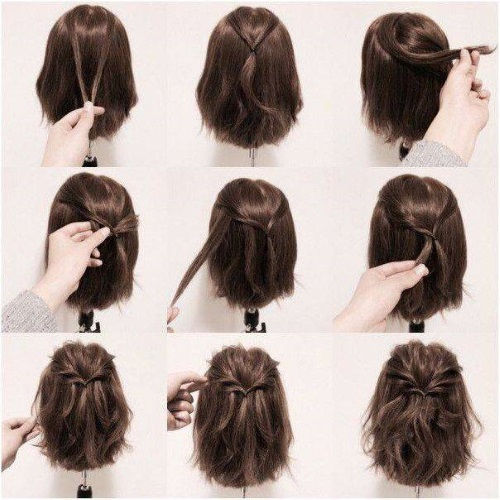 Простые прически на короткие волосы своими руками, женские на каждый день, праздник, красивые