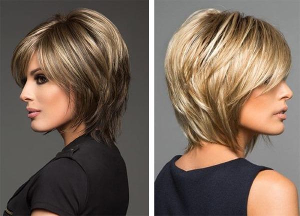 Стрижка Аврора на короткие волосы. Фото, вид спереди, сзади, с челкой, для круглого лица. Техника выполнения