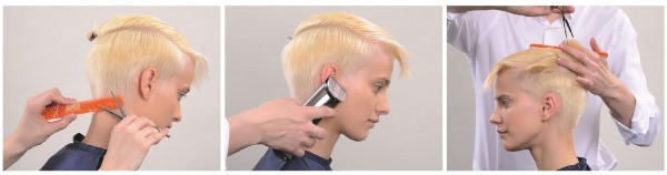 Стрижка Пикси на короткие волосы. Фото вид спереди и сзади: блондинки, брюнетки, шатенки, русые