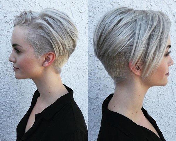 Стрижки с выбритыми висками женские на короткие, средние, длинные волосы