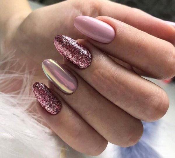 Идеи розового маникюра на короткие ногти. Фото, дизайн со стразами, рисунком, втиркой, гель лаком