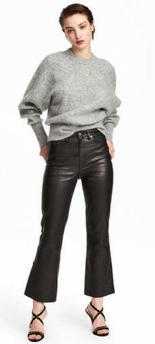 Кожаные брюки. С чем носить женские штаны, фото модных образов 2019