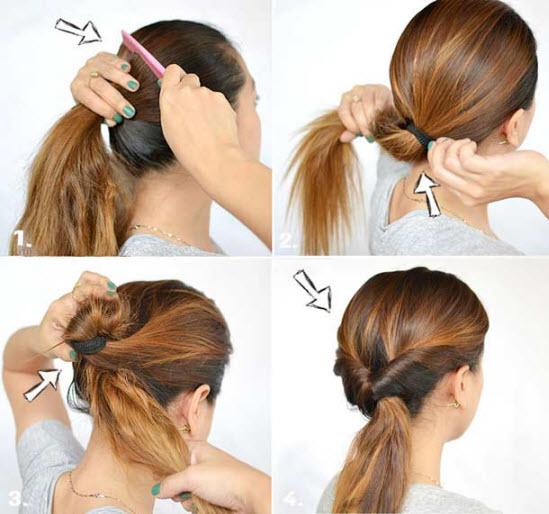 Легкая прическа на средние волосы за 5 минут. Фото, как сделать пошагово в домашних условиях