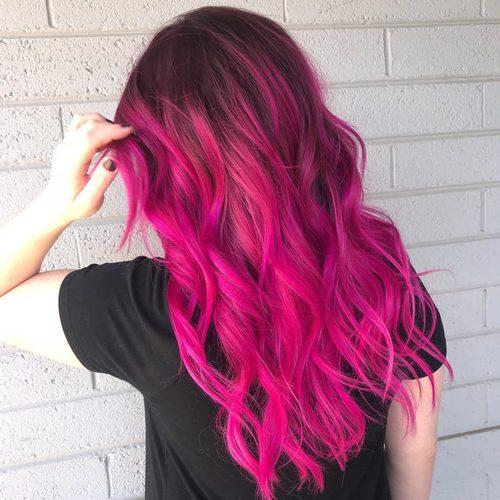 Черно-розовые волосы у парней, девушек. Фото пополам, лил пип, эмо. Кому подходит, как выглядит, как покрасить