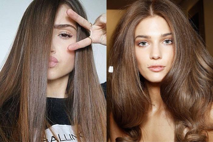 Темный русый цвет волос. Фото до и после окрашивания, краски. Кому идет