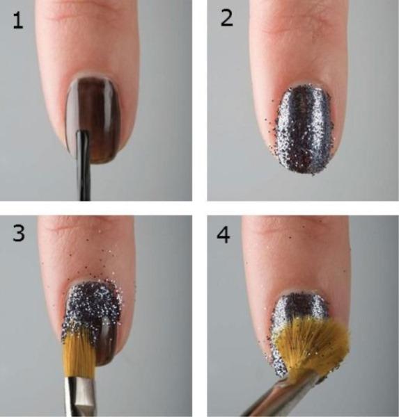 Как наносить блестки на гель-лак без покрытия топа, с покрытием. Инструкция, видео