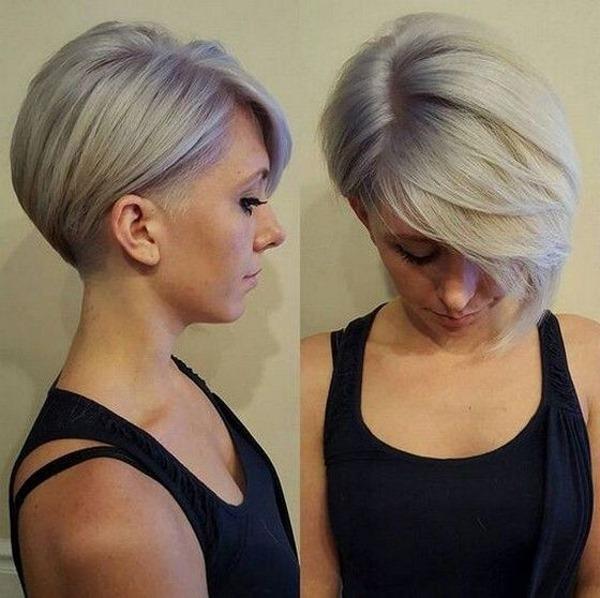 Красивые женские прически на короткие волосы с круглым лицом, очками, для полных и худеньких. Фото