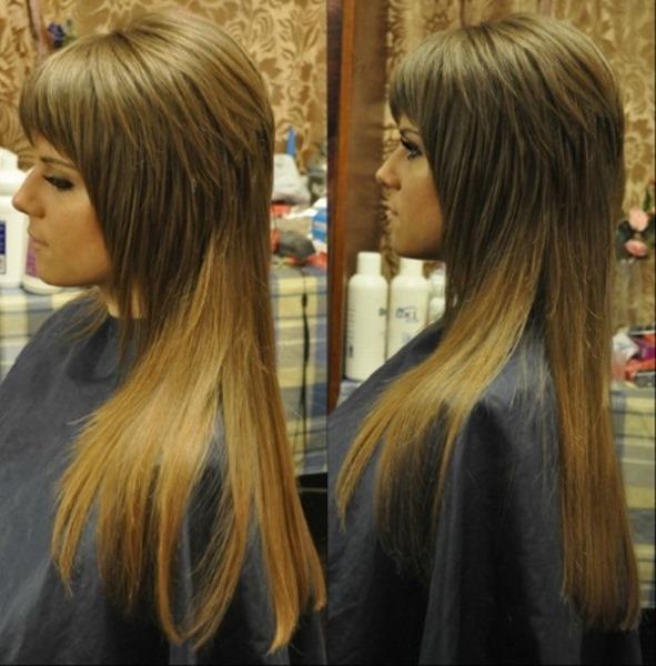 Женские стрижки с челкой на длинные волосы. Фото модные, красивые, стильные в 2019 году
