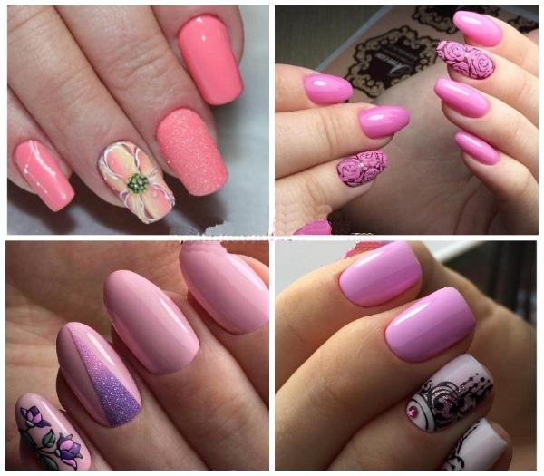 Дизайн ногтей в серо-розовом цвете. Фото маникюра, модные тенденции 2020