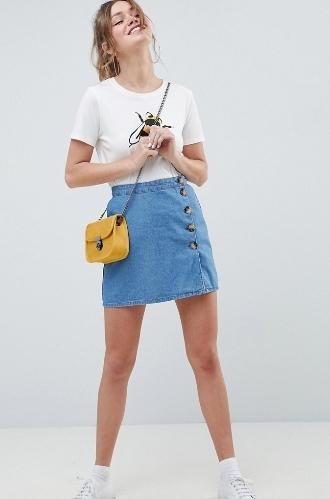 Джинсовая юбка с пуговицами спереди. С чем носить, как сшить своими руками из джинс