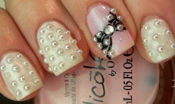 Маникюр с блестками на короткие ногти. Фото гель-лак, нежные цвета