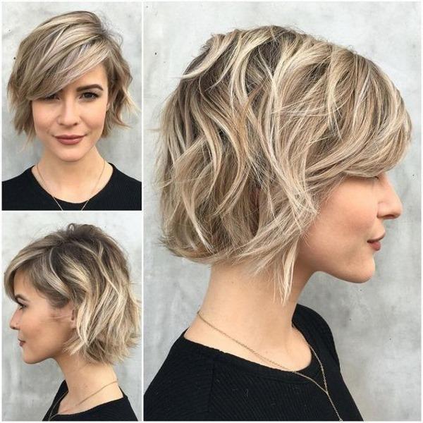 Многослойные женские стрижки на средние волосы с челкой. Фото, варианты