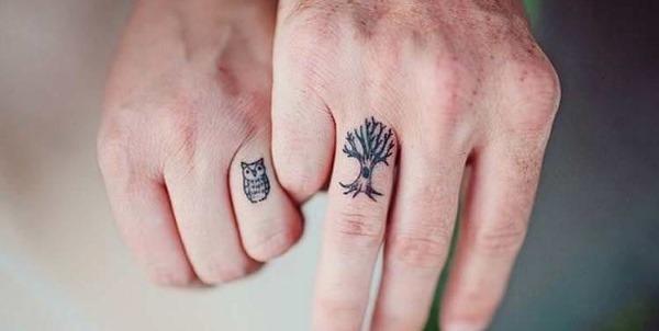 Парные татуировки для двоих влюбленных, для подруг, сестер. Маленькие эскизы, идеи надписи
