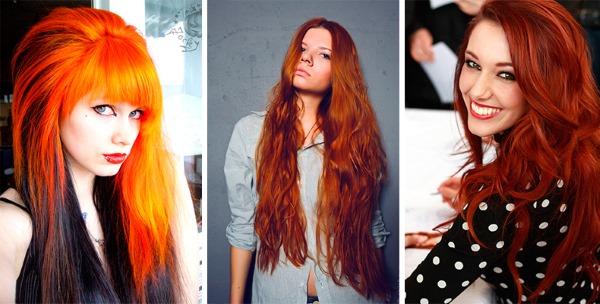 Темно-рыжий цвет волос. Фото, оттенки, кому идет, до и после окрашивания, краски