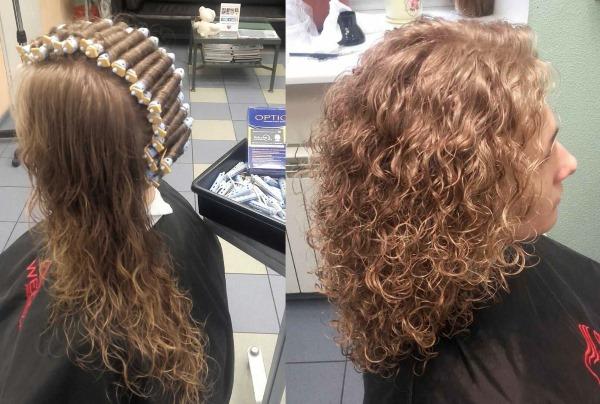 Вертикальная химия на средние волосы. Фото до и после, кому идёт, как делается, средства