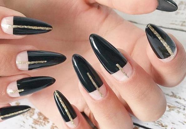 Черные острые ногти. Дизайн, фото, идеи, модные тенденции 2019