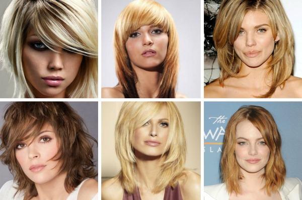 Многослойные стрижки на средние волосы. Фото, новинки 2019, вид спереди и сзади