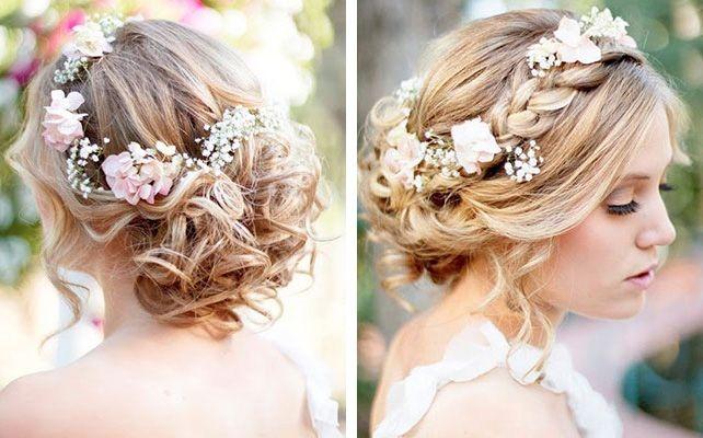 Свадебные прически на средние волосы с фатой: без челки, с челкой. Модные тенденции 2019