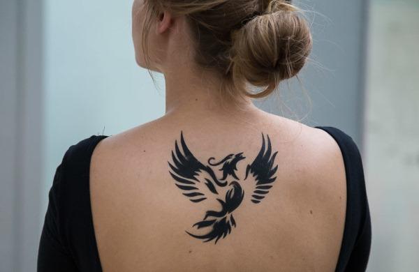 Тату феникс. Значение для девушек на запястье, руке, спине, ноге. Фото, эскизы