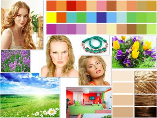 Цветотипы внешности. Описание и фото, колористика, тесты и примеры осень-весна-зима-лето