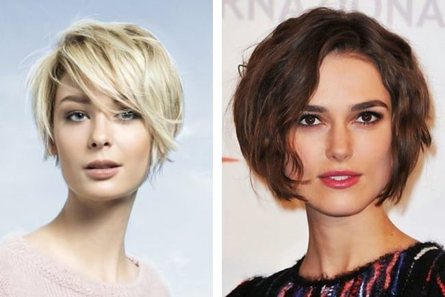 Асимметричные женские стрижки на короткие волосы. Фото с челкой, боб, пикси, каре