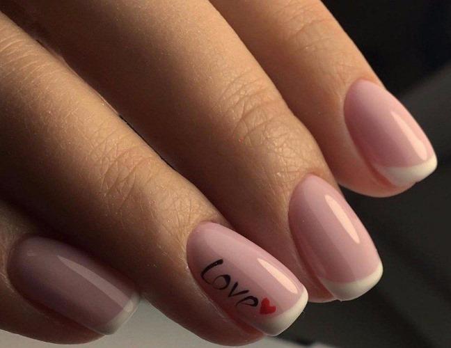 Дизайн маникюра в телесном цвете. Фото на короткие, острые, длинные ногти