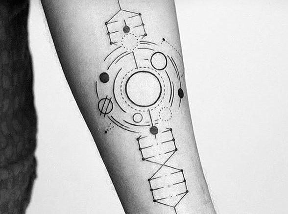 Геометрические татуировки. Эскизы для девушек и мужчин, фото и значение