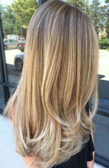 Градуированная стрижка на длинные волосы. Фото с челкой и без, схема стрижки