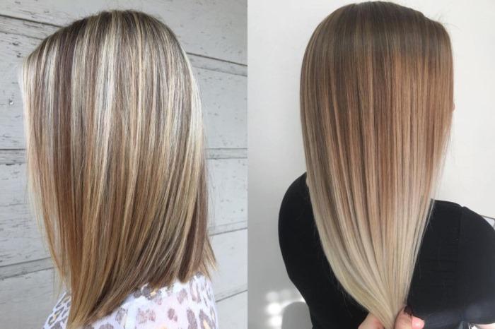 Мелкое мелирование на темные волосы. Фото до и после с челкой и без, тонированием