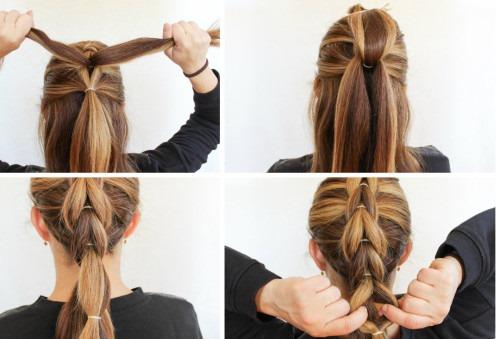 Прически с хвостом на средние волосы для девочек и девушек. Фото, как сделать пошагово своими руками