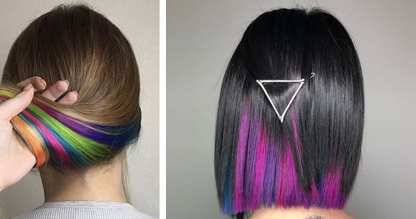 Скрытое окрашивание на темные волосы. Фото без осветления, светлое, на средние волосы, каре