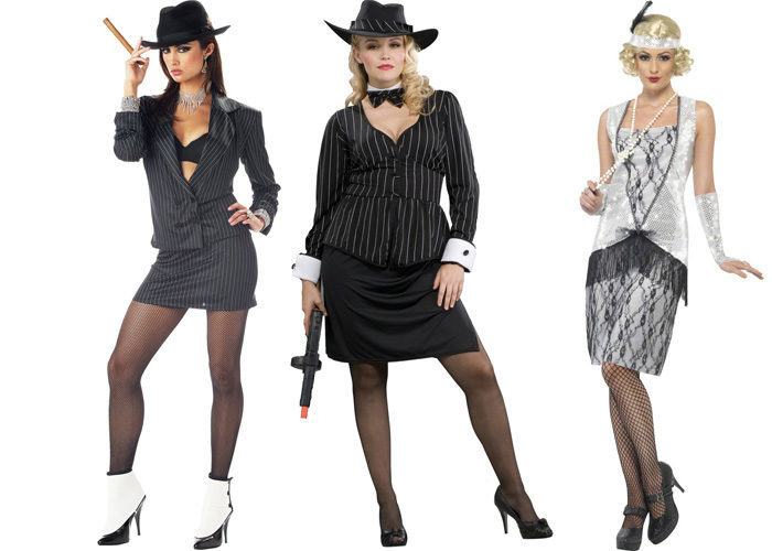 Стиль гангстеров для девушек. Фото для вечеринки, праздника. Прически, одежда, аксессуары